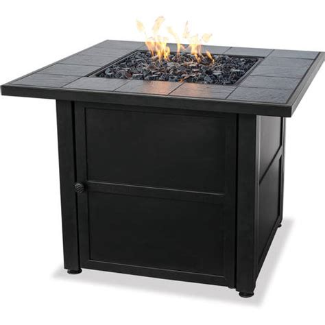 Walmart Firepits Uniflame Lp Gas Ceramic Tile Pit Table Walmart