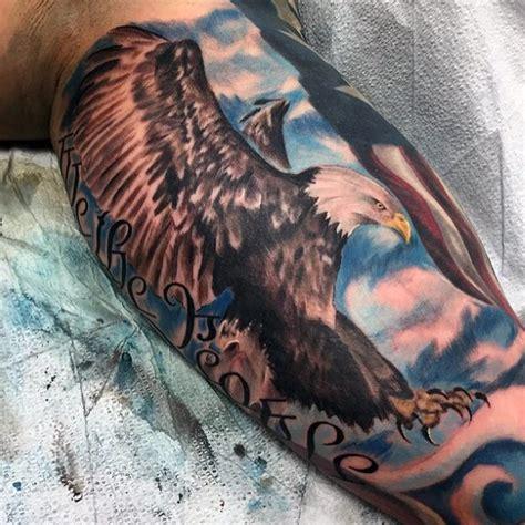 Eagle Tattoo Inner Bicep | 100 interior del brazo tatuajes para los hombres