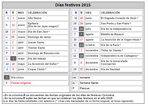 Colombia Search Dias Festivos Y Feriados En El Mundo 1970 2070 The Knownledge