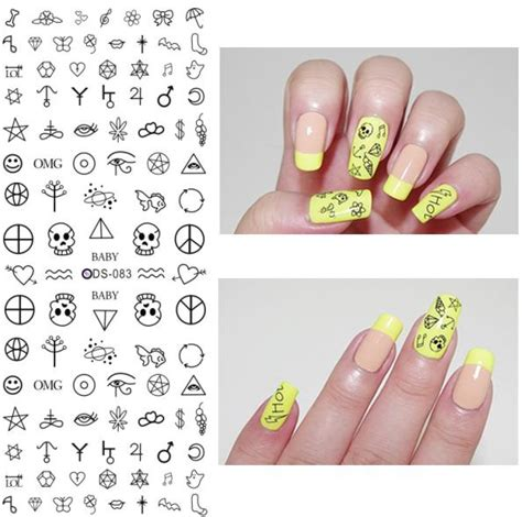 Water Decal Stiker Kuku Air Nail Sticker Ysd058 buy grosir skull sticker lembar from china skull