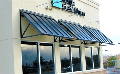 metal roof awnings standing seam canopies