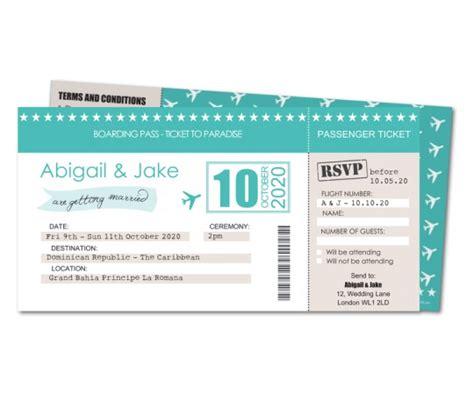 boarding card wedding invites uk wedding invitation boarding pass ticket planet cards co uk