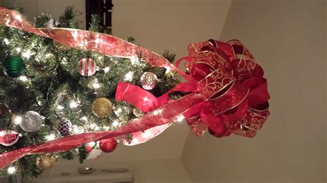 christmas bow topper diy andrea faison diy bow tree topper