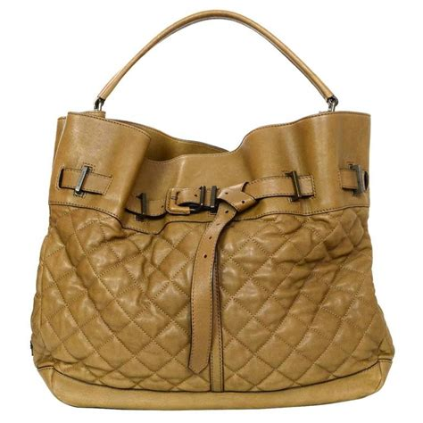 Burberry Quilted Tote by Burberry Brown Quilted Leather Tote Bag For Sale At 1stdibs