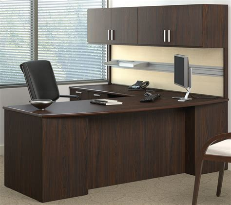 wall mounted desk l methods custom 84 quot managers l desk w wall mounted hutch