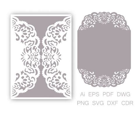 free wedding gate fold card template silhouette gate fold wedding invitation laser cut pattern card