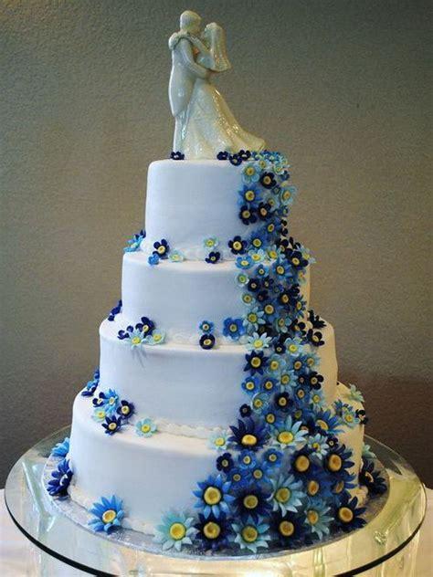 blue flower wedding cake blue flower wedding cakes www pixshark images