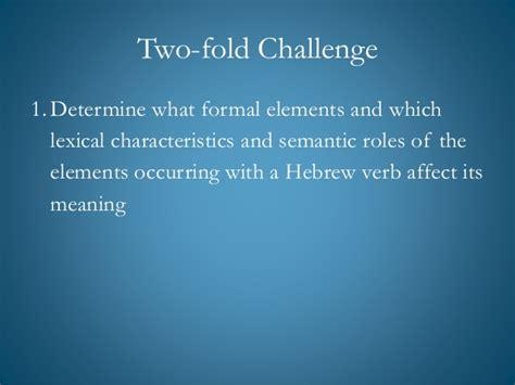 verb valency pattern verbal valency in hebrew verbs