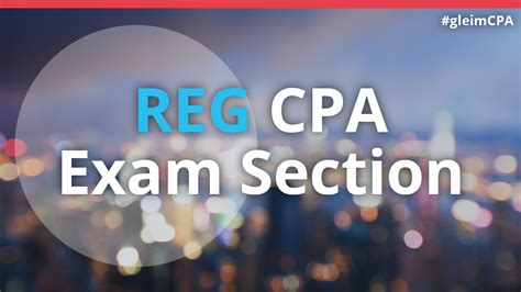 cpa sections reg cpa exam section gleim cpa review