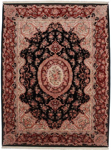 9 x 11 rug 9 x 11 silk wool tabriz style rug 14222