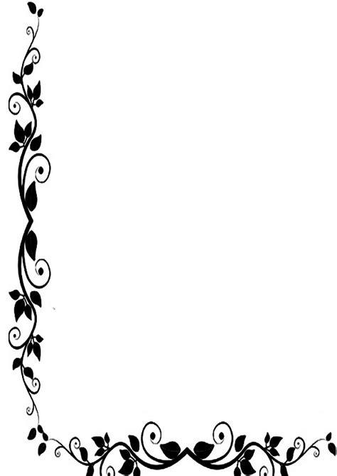 bordes de pagina colouring pages bordes de pagina de flores