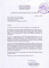 Letter For Barangay Project Galing Foundation Inc Mindanao Outreach Deped Sarangani Certificate Of Recognition For Delta