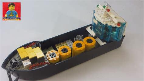 lego boat cargo lego cargo boat moc youtube