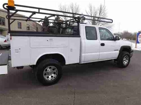 short bed utility body find used 2004 chevy 2500 hd xcab 4x4 service utility body