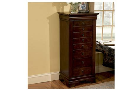 jewelry armoire white clearance louis marquis cherry jewelry armoire at gardner white