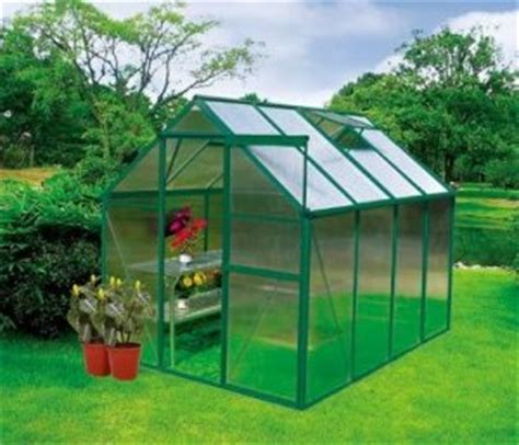 earthcare basic 6 x 8 backyard greenhouse kit