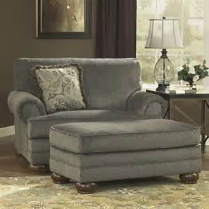 Oversized Living Room Chair With Ottoman Parcal Estates Fabric Oversized Chair With Ottoman In Basil 74005 23 14 Pkg
