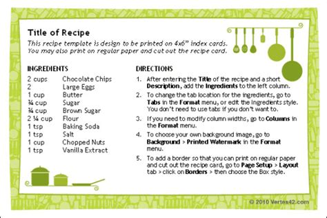 microsoft word recipe template help find and download microsoft