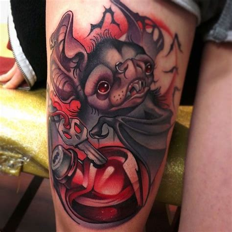 tattoo artist school new school bat my artist steven compton tattoos