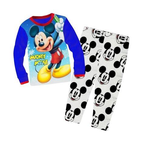 Baju Tidur Piyama Cp Motif Mickey Mouse jual verina baby mckey mouse cuddle me pajamas setelan baju tidur anak biru harga