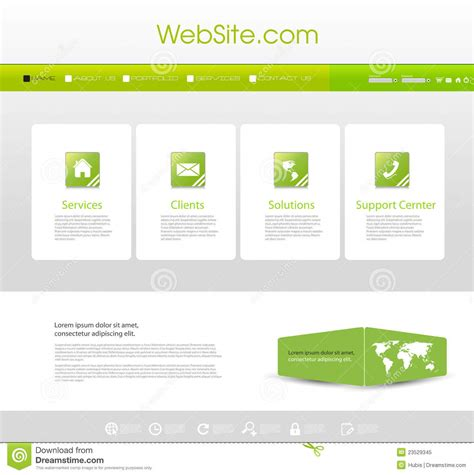 Website Menu Template Stock Vector Illustration Of Line 23529345 Copyright Free Website Templates