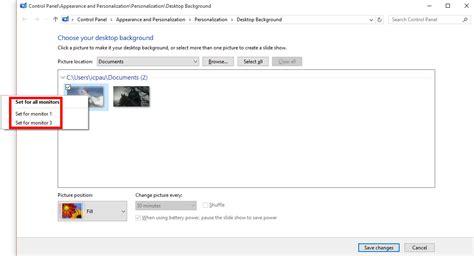 different wallpaper for each desktop windows 10 how to set different wallpapers for multiple monitors in