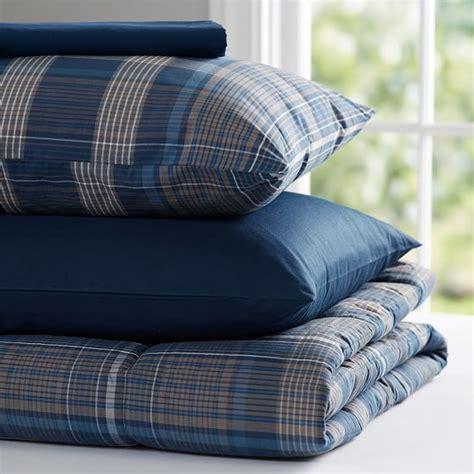 navy plaid comforter heritage plaid value comforter set navy pbteen
