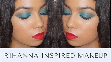 rihanna inspired makeup tutorial rihanna thoughts inspired makeup tutorial