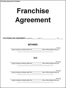 franchise template franchise agreement template word excel pdf