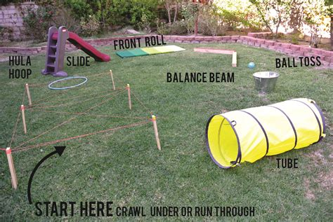 backyard obstacle course for kids obstacle course 2 pinteres