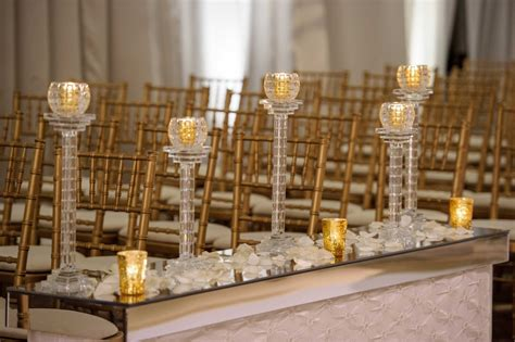 Wedding Aisle Candle Holders by Ceremony D 233 Cor Photos Gold And Votives At