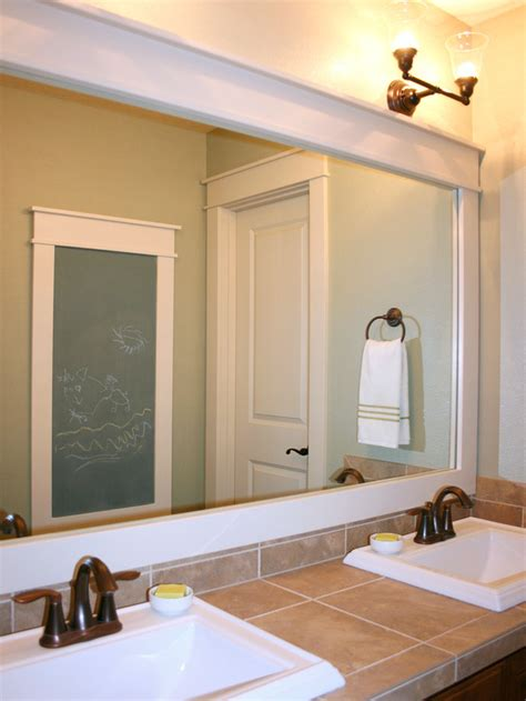 How To Put A Frame Around A Bathroom Mirror How To Frame A Mirror Bathroom Ideas Design With Vanities Tile Cabinets Sinks Hgtv