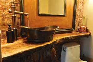 Vanity Top Sink Finishing Touches Nw Inc Live Edge Powder Room