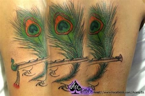 flute tattoo krishna flute with peacock feather www pixshark