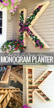Home Design Diy by Remodelaholic Diy Monogram Planter Tutorial