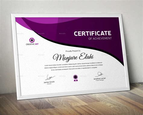 certificate design with photo 28 creative certificate templates free premium templates