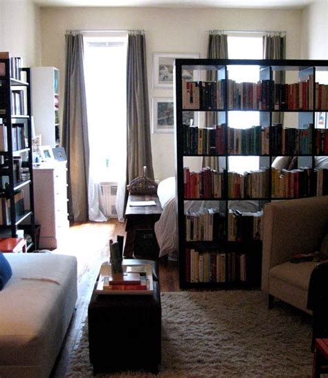 small space room divider ideas inspiration using a bookcase as a room divider