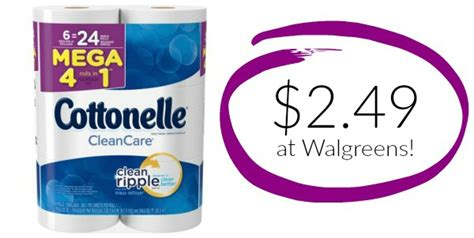 walgreens cottonelle bath tissue  mega rolls     coupon queen