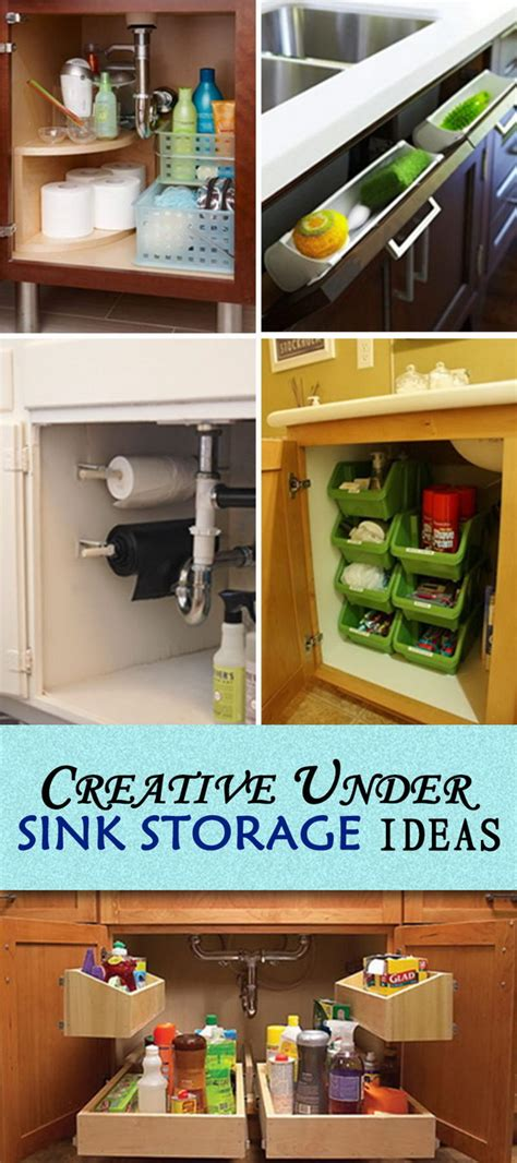 the kitchen sink storage ideas creative sink storage ideas hative