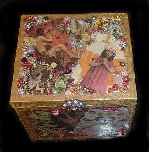 Decoupage Memory Box - personal journey box handmade and personalised decoupage