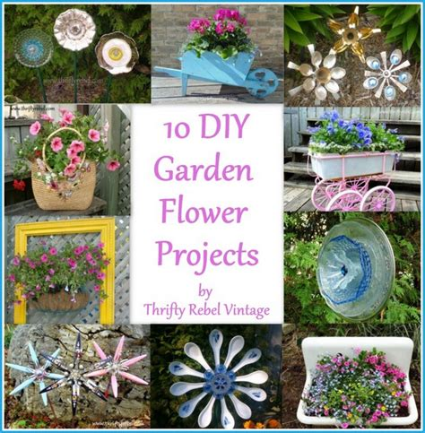 diy flower garden projects 10 diy garden flower projects thrifty rebel vintage