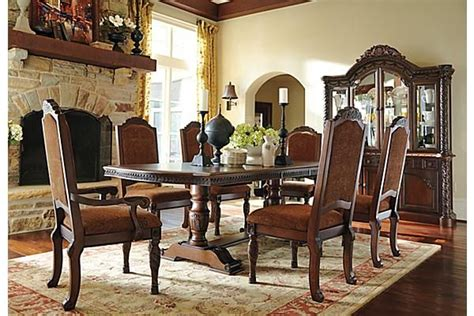 north shore dining room chair  ashley furniture homestore afhscom  deep rich