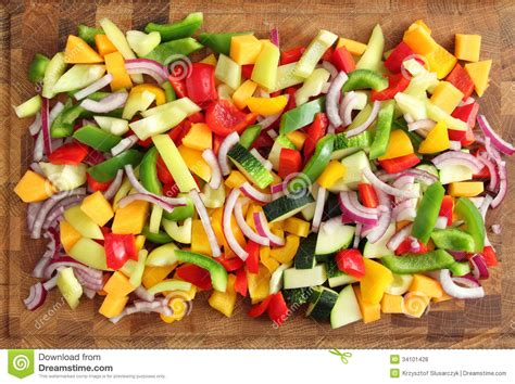 diced vegetables royalty free stock photos image 34101428