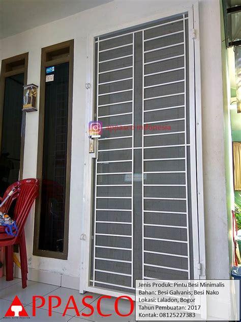 Pintu Besi Minimalis Laladon Bogor   Jual Kanopi Tralis