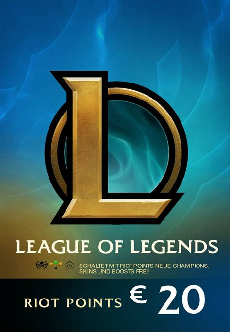league  legends gift card  eur riot key europe