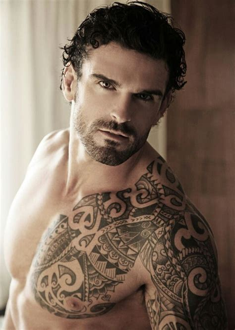 chest tribal shoulder tattoos for guys tattooideaslive com
