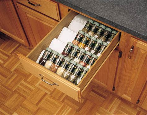 kitchen cabinet organizing spice drawer insert rack storage