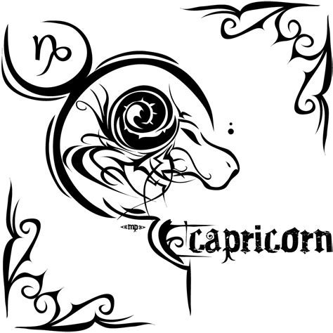 tribal zodiac tattoo designs capricorn tattoos designs ideas and meaning tattoos for you
