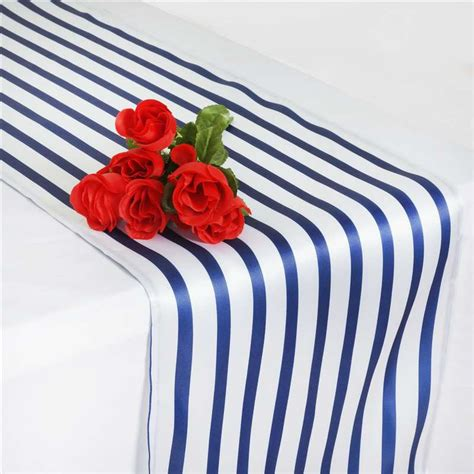 navy and white striped table runner wholesale tablecloths chair covers table cloths linens runners