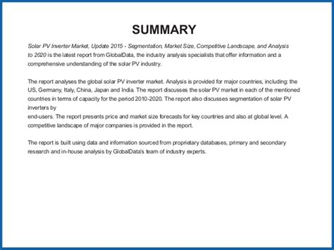 solar pv inverter market update 2015 segmentation